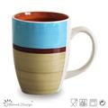 De cerámica con rayas tazas/mugs/tarros, tazas pintadas a mano, bala stoenware tazas/mugs/tarros