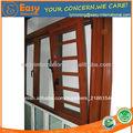 popular de nuevo de alta calidad de rotura de puente térmico de aluminio inclinar y girar las ventanas con rejas de seguridad