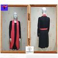 Wal- mart aprobado arco de cuello alto y elegante coreano nuevos vestidos de moda