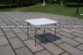 mesa cuadrada de plástico,mesa de estructura de acero
