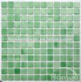 sala de lavado verde de mosaico de vidrio