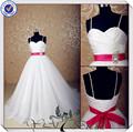 jj3566 escote corazón puffy ball vestidos de novia vestido con detalles en rojo