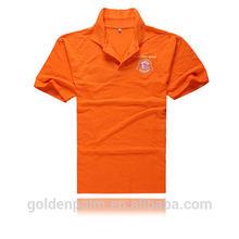 De color naranja de la promoción de la camisa de golf/la fábrica de china de polo/promoción camisas de polo