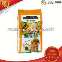 perro de alimentos para mascotas bolsa con fuelle lateral