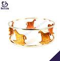 joyería único caballo grabado el chapado en oro importación de joyería de china