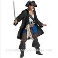 de halloween de piratas del caribe el capitán jack sparrow traje de cosplay