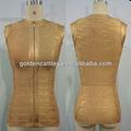 Gd201304 modest manga folha de ouro best-seller vestido bandage