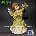 venta al por mayor figuras de poliresina angel con la luz