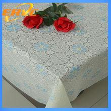 buena calidad de pvc de mesa cubierta de mantel con flores impresas