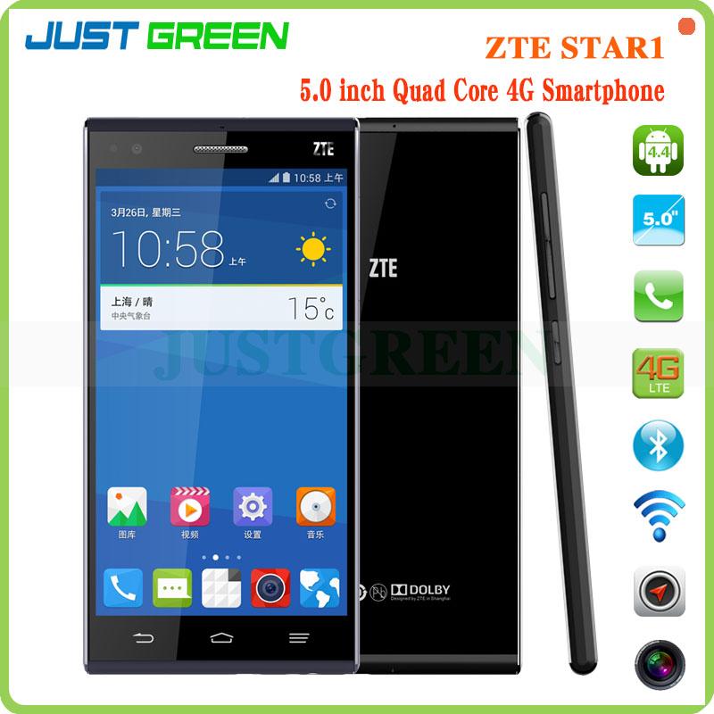 Envío de la gota!ZTE STAR 5 pulgadas IPS pantalla 1920 * 1080P Snapdragon Quad Core 1,6 G Hz 2GB RAM 16 GB ROM 4g lte smartphone
