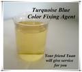 química ambiental de la industria textil de cationes color azul turquesa agente de fijación