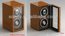 cola de milano de madera watch winder caja