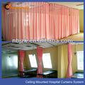 hospital de rieles para cortinas como sistema de cortina