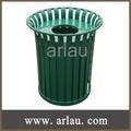 cubo de basura de metal cubo de basura al aire libre (Arlau BS75)