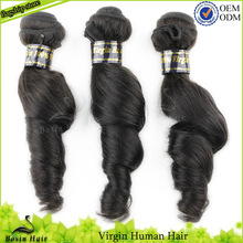 Mayor grado superior sin procesar virgen tejer 5a 100% sin procesar cabello virgen de brasil