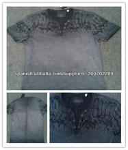 moda al por mayor camiseta de la vendimia de la venta caliente de los hombres de la marca con la colada de la ropa