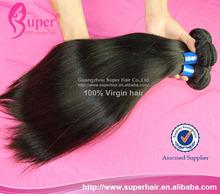Virgen pura 100% cabello virgen brasileño pelo recto