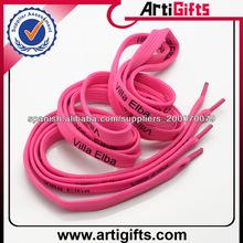 2014 personalizadas de poliéster impreso elástico del cordón del zapato