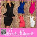 ventas al por mayor apretado imágenes peplum vestido de oficina para las señoras