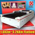 láser de corte de tela de poliéster de PVC de cuero / máquina de corte láser para la industria textil