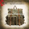 Camo lona vintage mochila de senderismo/militar mochila