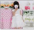 2014 de verano de lujo más nuevo de color blanco y de color rosa nuevo modelo niñas vestidos de fiesta para las niñas 9 años