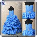 ff0009 a mais bela flor menina vestidos inchado flor menina vestidos de azul royal