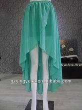 2014 primavera nuevas señoras del diseño último frente cortocircuito de la manera de largo con falda de espalda