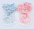 E003 Chiffon Floral Azul Rosa ropa para perros Fábrica de Productos de envío rápido envío de la gota