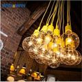 1.2m longitud de cable de silicona material edison bombilla de la lámpara de plástico colgante de luz