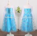 venta caliente congelados elsa anna princesa traje de fantasía para niñas traje vestido largo