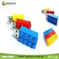 colorido borrador de plástico forma usb flash drive de 8gb con logotipo de la empresa