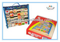 Alfabeto de madera estante& juguete educativo