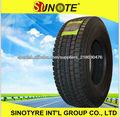 11R22.5 12R22.5 295/80R22.5 Neumático de camión hecho en China, distribuidor de pneus usados