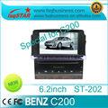Estrella lsq para mercedes- benz c200 sistema estéreo del coche con gps