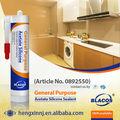 calidad alta sellador de silicona acético