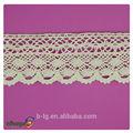 Guangzhou patrón de flores de tela de colores adornos 100% larga de algodón del cordón de la cinta