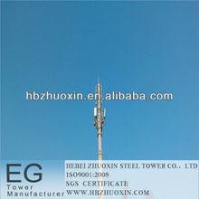 hebei zhuoxin de telecomunicaciones de acero galvanizado gsm torre de polo