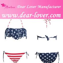 sexy borla cinta para el pelo de la bandera americana bikini ropa de playa