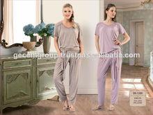 de moda pijama conjunto para las niñas