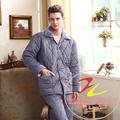 caliente pijama de invierno para los hombres con terciopelo
