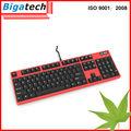 mejor usb mecánica con conexión de cable del teclado teclado de la computadora del fabricante