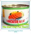 Alimentos carne de almuerzo en lata tradicional china picante de carne de cerdo