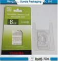 empaquetado de la cubierta plástica para tarjeta de memoria