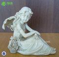 resina de mesa sentado figuras de ángel