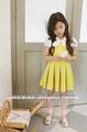 2014 venta caliente rojo/amarillo de algodón ropa de niño baratos niñas vestidos de fiesta