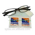 solo paquete personalizado anteojos antibacterial toallitas de limpieza