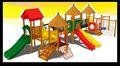 Lt-02070a castelo de madeira ao ar livre slide para crianças