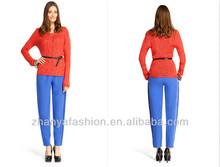 las señoras de moda puente de géneros de punto jersey con cinturón