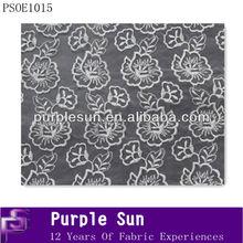 tela de organza de diseño de flores de tela del bordado